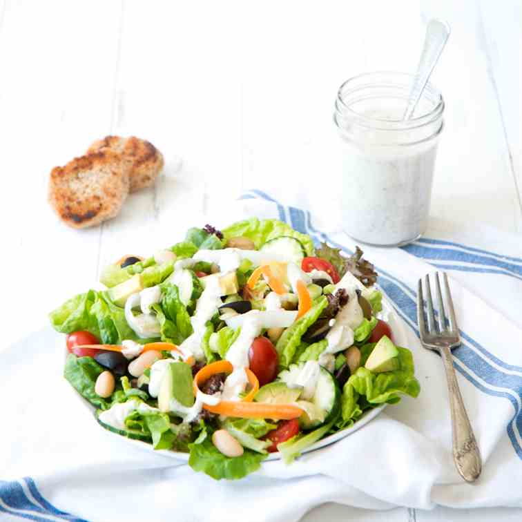 Power Salad with Vegan Dressing