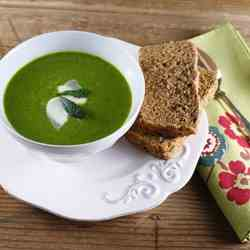 Kale Soup and Irish Brown Bread