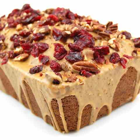 Espresso Pound Cake with Cranberries