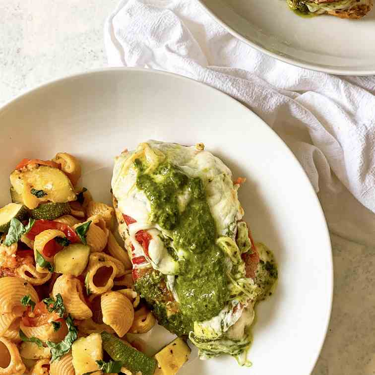 30 Minute Air-Fried Caprese Chicken