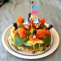 Elmo Sushi Cake for Childrens' Day