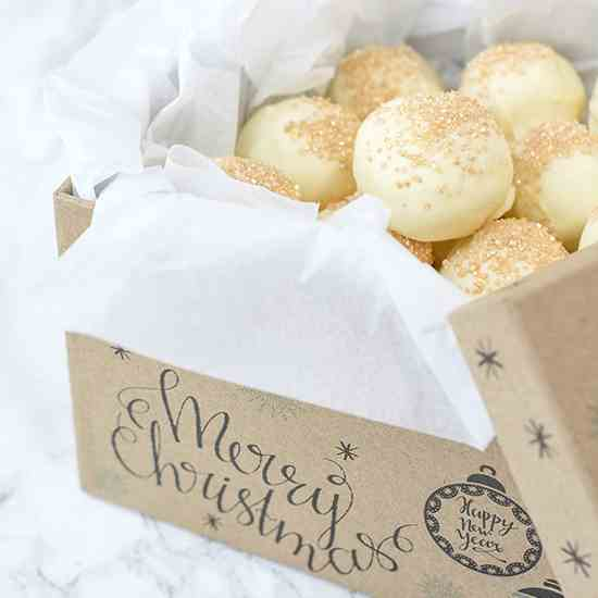 White Chocolate Eggnog Truffles