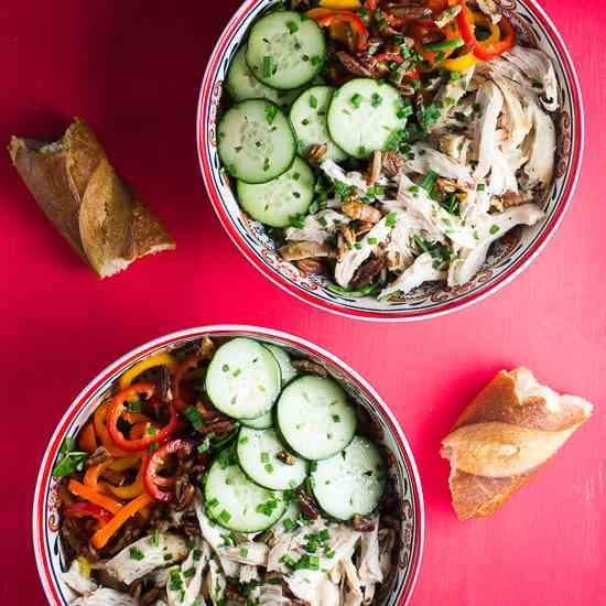 Chicken and Cucumbers Salad