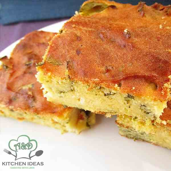 Cornbread With Cheese And Spinach