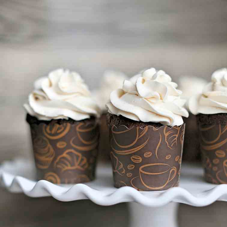 Chocolate Liqueur Chocolate Cupcakes