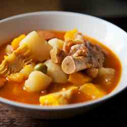 Chickpea and Pigs Feet Stew