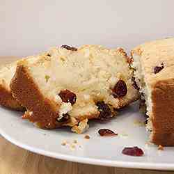 Dried Cranberries Pound Cake