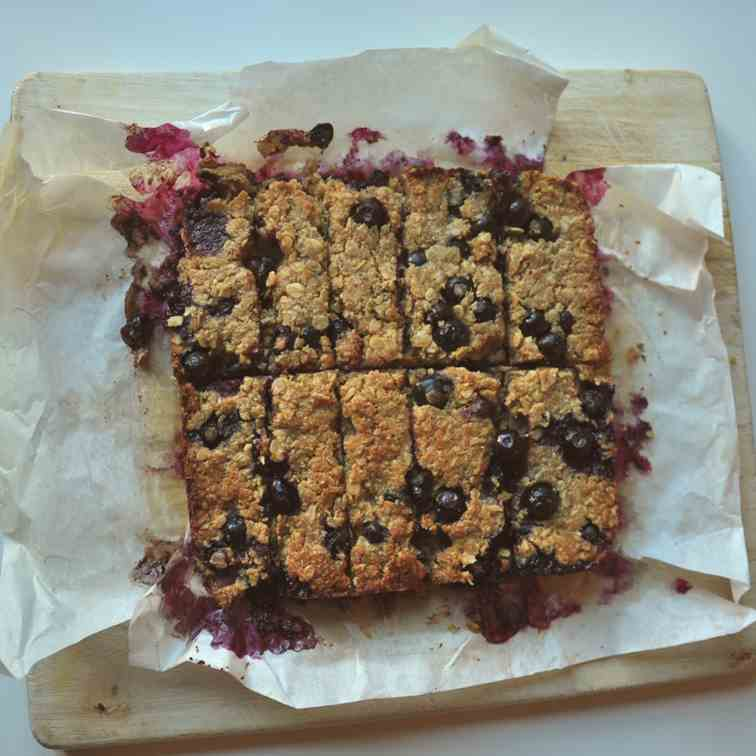 Blueberry Peanut Bars