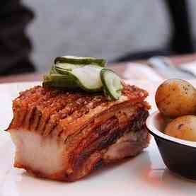 Twice Cooked Smoked Pork Belly