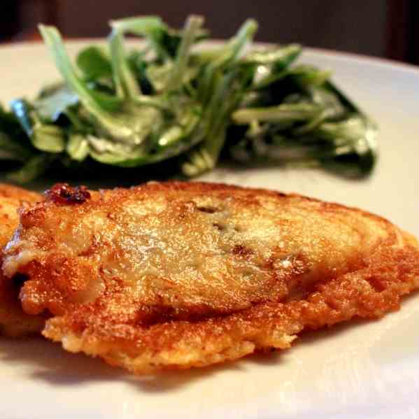 Crispy fish fillets - typical Swiss