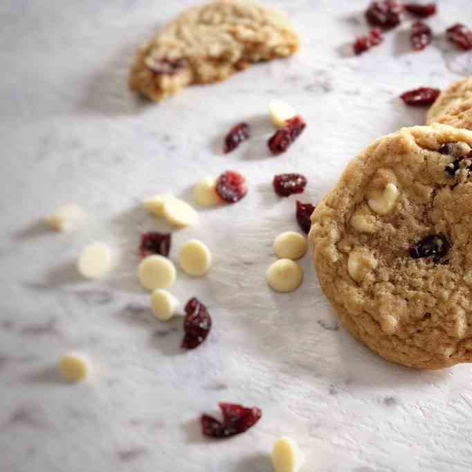 Eggless White Chocolate Cranberry Cookies