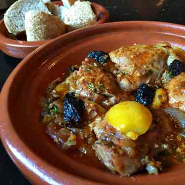 chicken Tagine with Prunes and Apricots