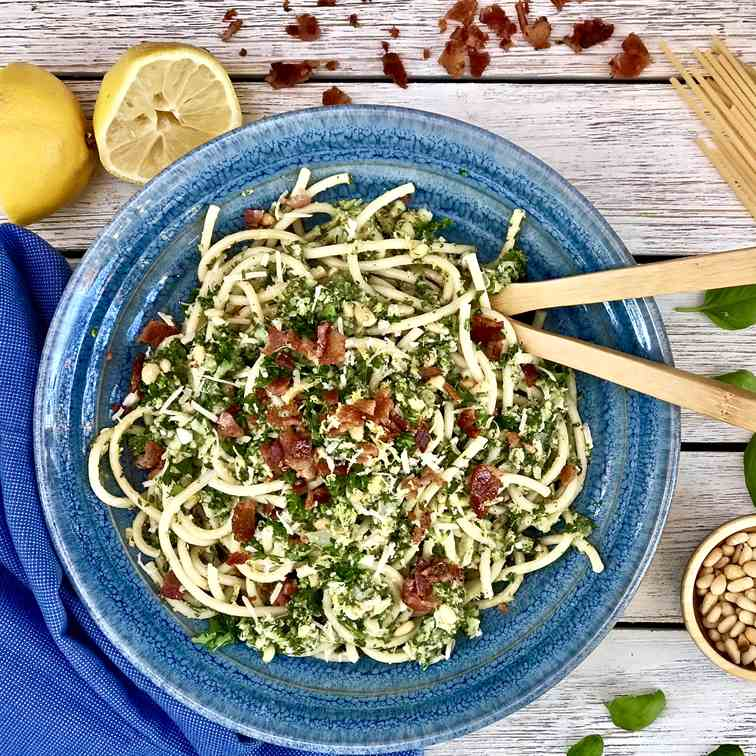 Pasta With Broccoli, Bacon And Lemon