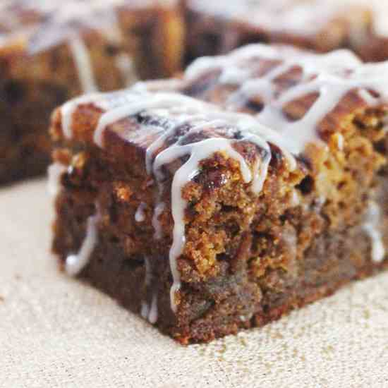 Ginger Pumpkin Brownies