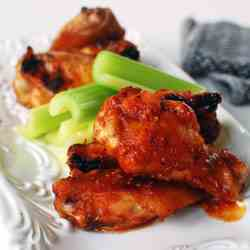 Korean-flavored Baked Chicken Wings