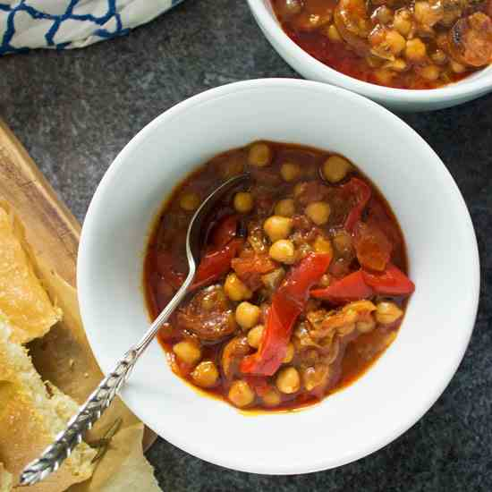 One Pot Chorizo - Chickpea Stew