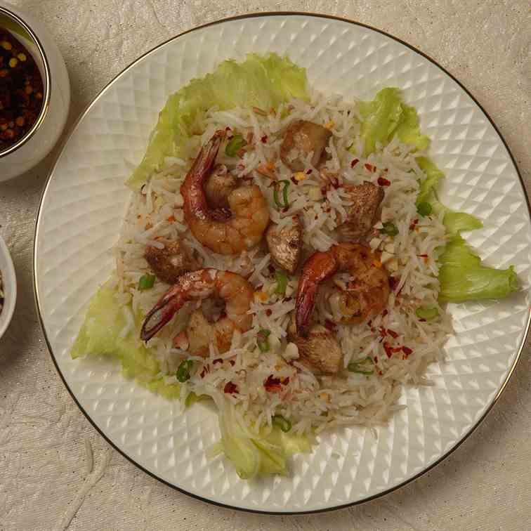 Rice salad with Chicken and Shrimp