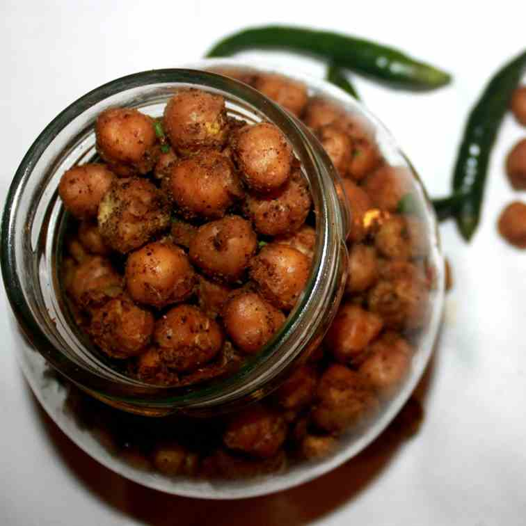 Baked spiced-up Chickpeas