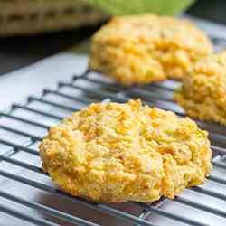 Chickpea Cheddar Kefir Biscuits