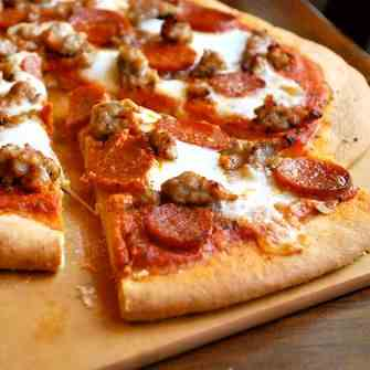 Italian Sausage and Pepperoni Pizza