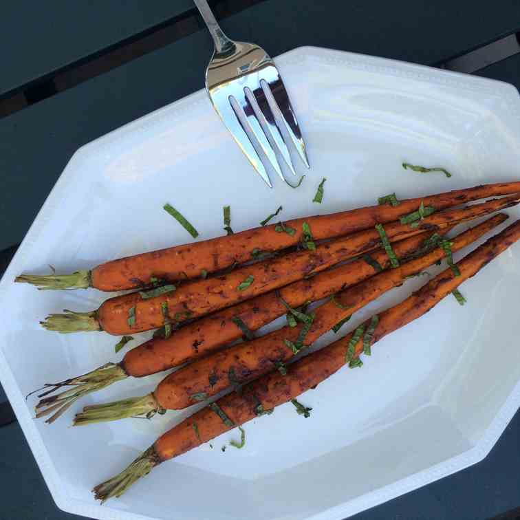 Balsamic Dijon Roasted Carrots