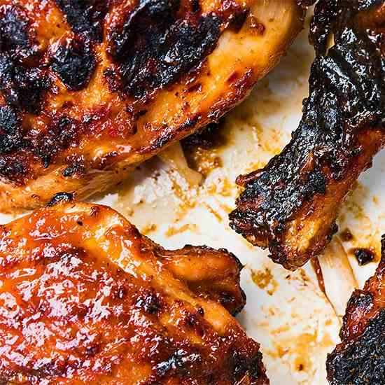 Grilled Chicken with Spicy Peach Barbecue