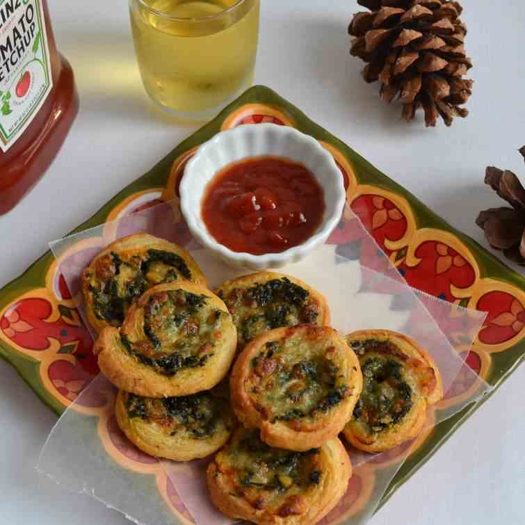 Spinach and cheese puffs