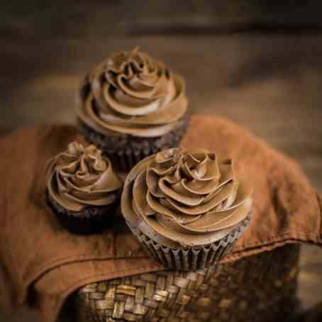 Hazelnut chocolate muffins