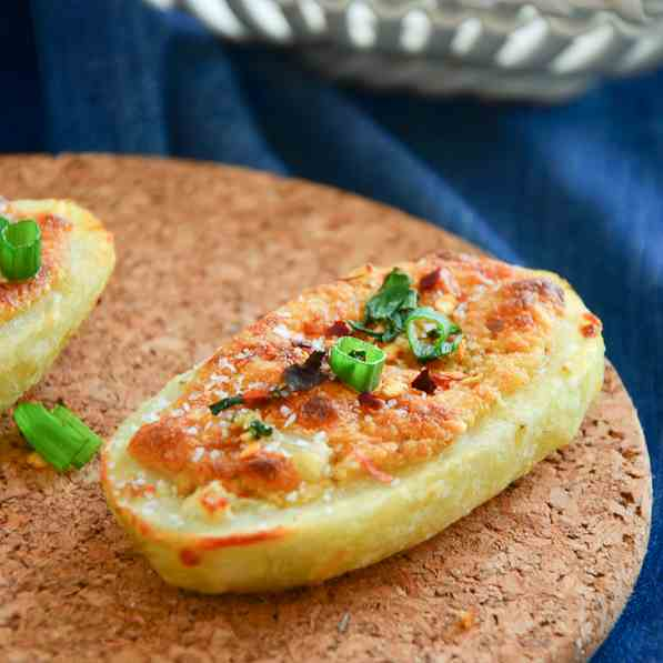 Roasted stuffed potatoes