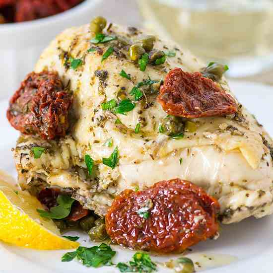 Roasted Chicken Breasts in Date Sauce