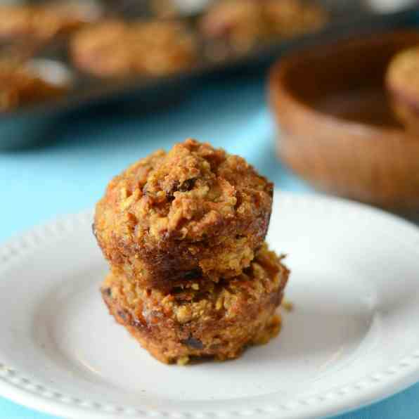 Carrot Apple Quinoa Muffins
