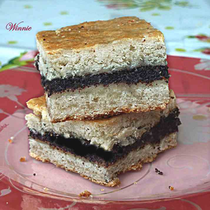 Poppy-Seed Shortbread Squares