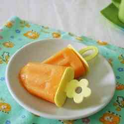 Papaya and Milk popsicles