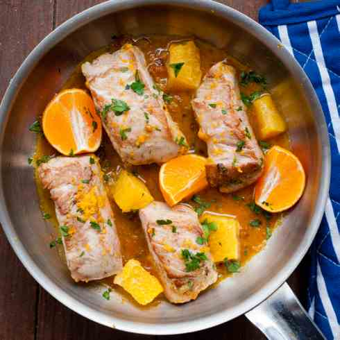 Fresh orange pork tenderloin