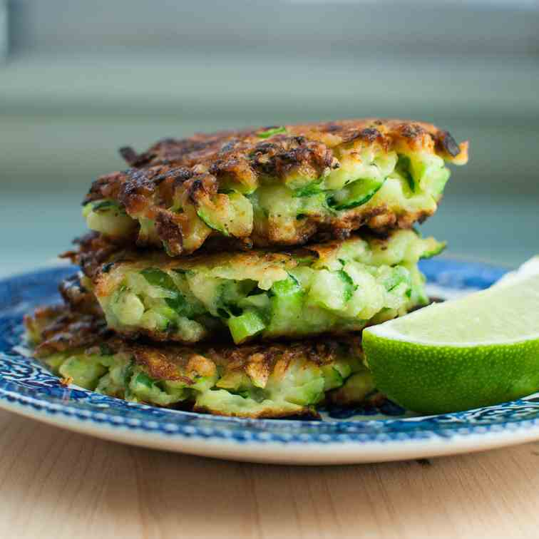 cheddar lime zucchini fritters