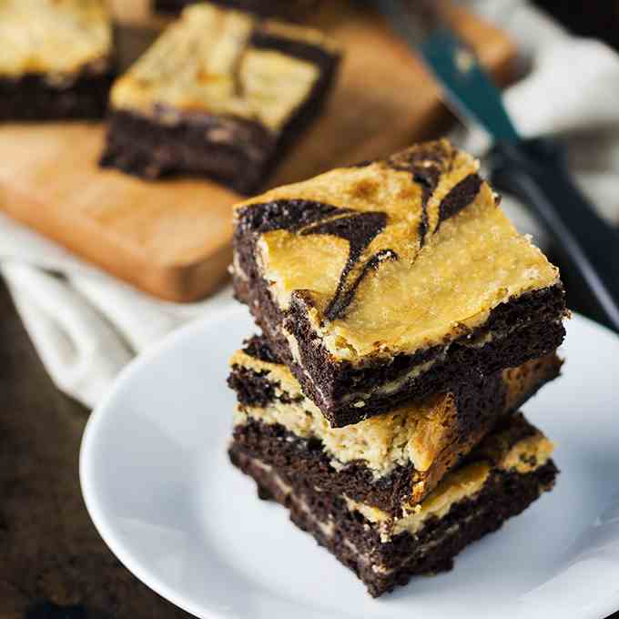 Salted Caramel Cream Cheese Brownies
