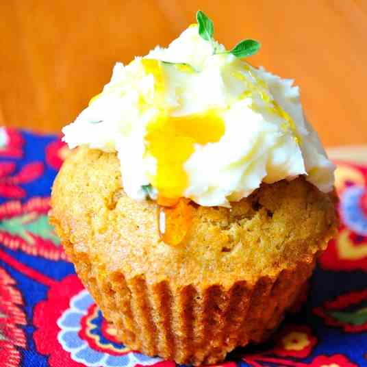 Apple & White Cheddar Cupcakes