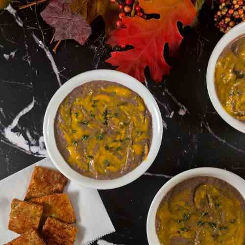 Swirled Black Bean and Pumpkin Soup