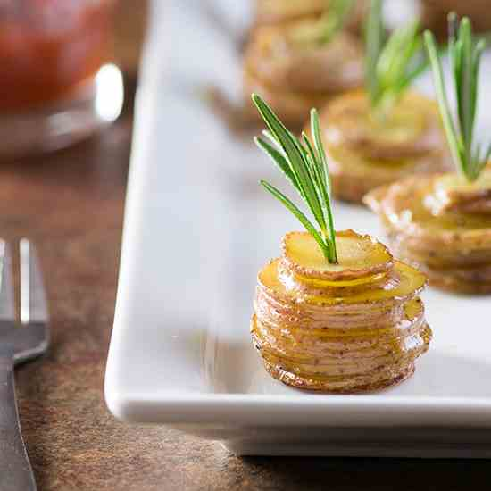 Roasted Baby Potato Stacks