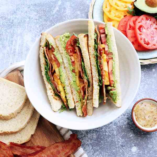 Avocado Bacon Sandwich with Honey Mustard