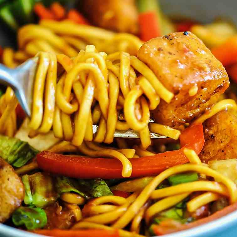 Sweet Chilli Halloumi Noodles