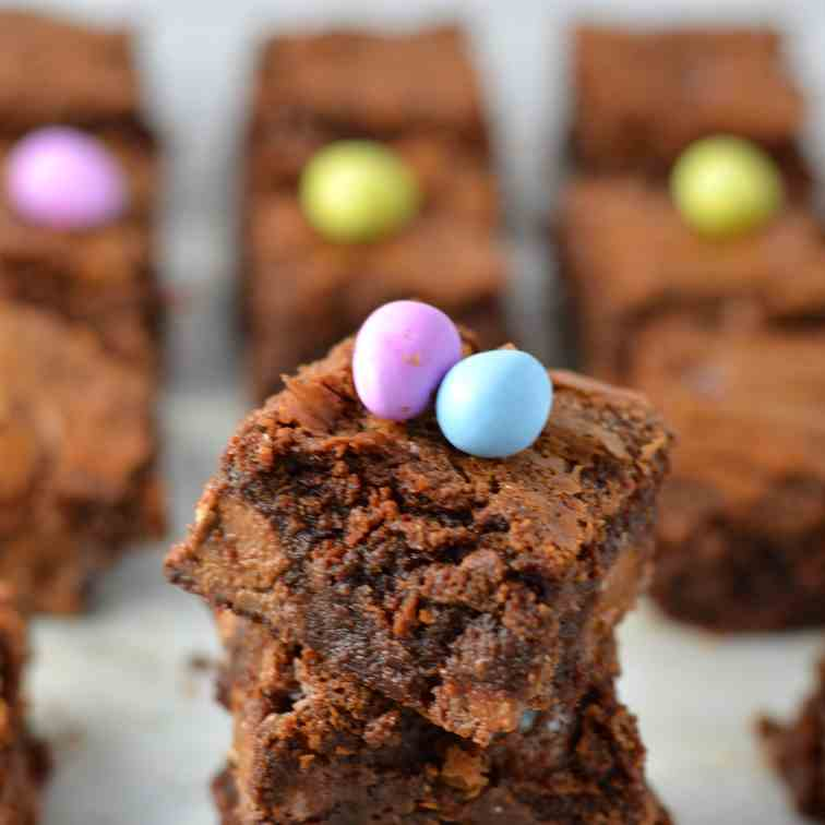 Mini Egg Nutella Brownies