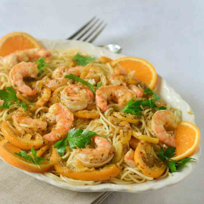 One Pan Orange Lemon Shrimp Capri