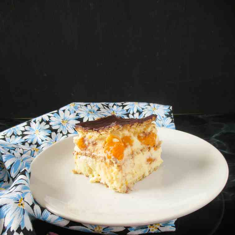 No-bake pudding tangerine dessert