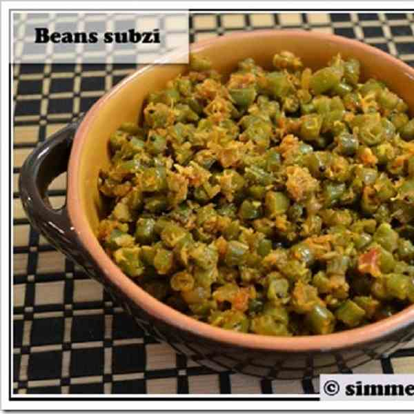 Beans with coconut