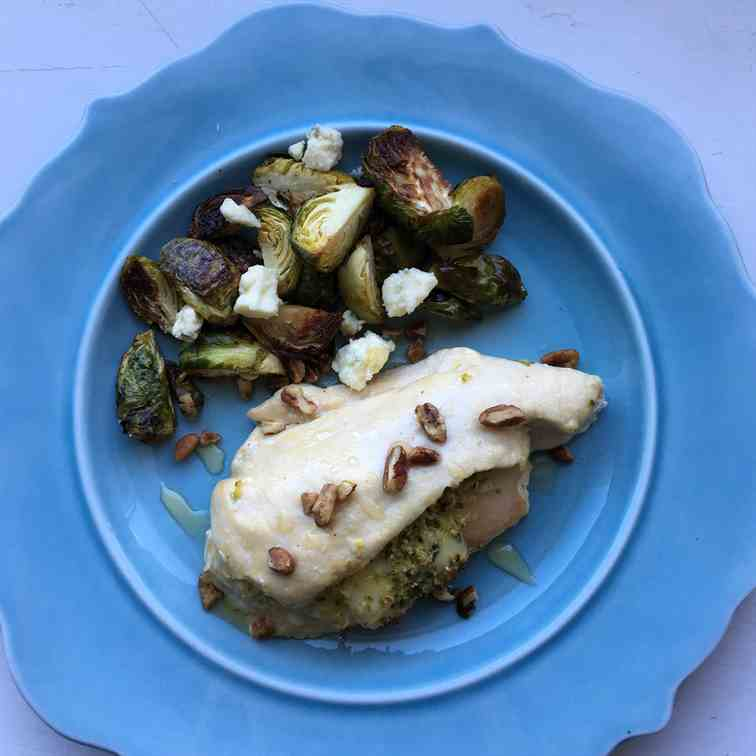 Pear and Blue Cheese Stuffed Chicken