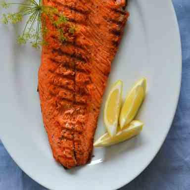 Grilled Salmon with Lemon Cream