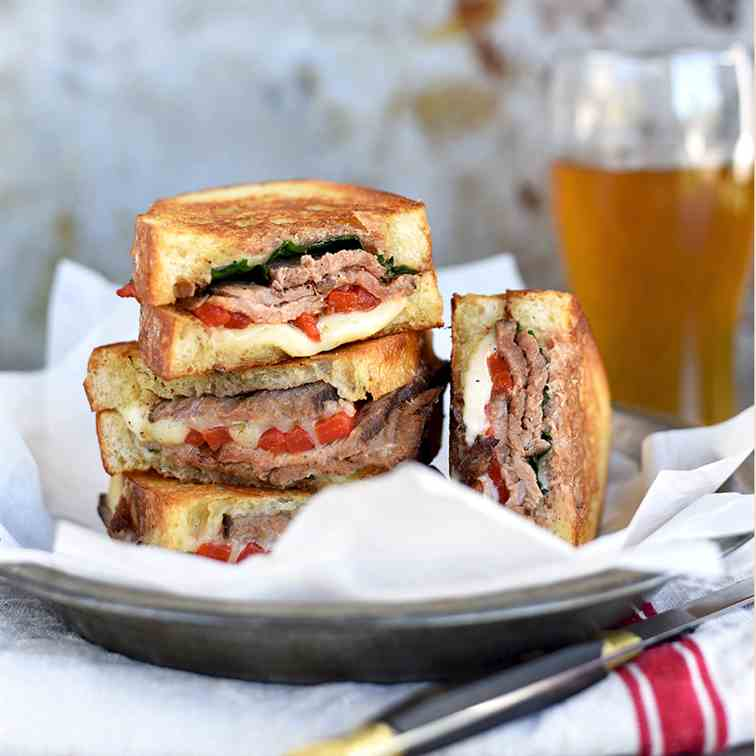 Coffee Rubbed London Broil Steak Sandwich