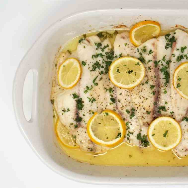 Lemon Butter Baked Tilapia