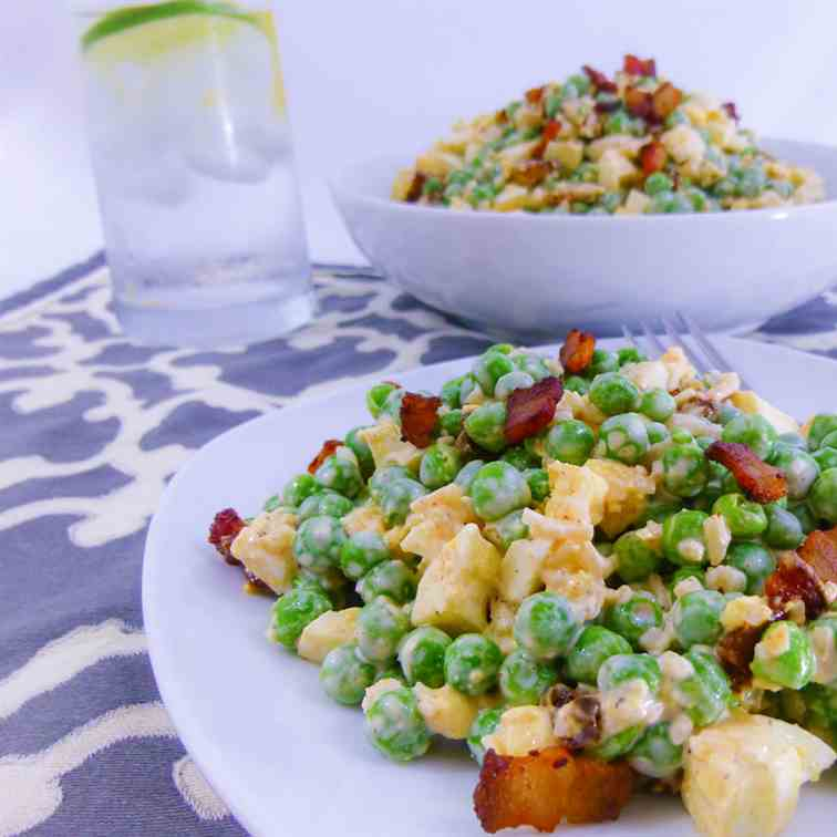 Pea Salad With Bacon